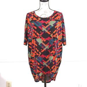 Lularoe Irma multicolor tunic top, size S